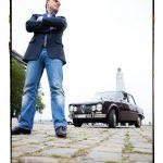 in vervoering : Wim Willems met z'n Alfa Romeo
