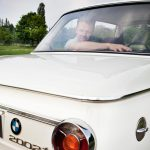 Jan Van Orshaegen met z'n BMW 2002ti