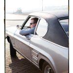 Wesley De Blieck met z'n Ford Capri