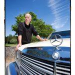 Frank Pollet met z'n Mercedes Turbodiesel