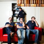 Olympique Dramatique : Stijn Van Opstal, Tom Dewispelaere, Ben Seghers en Geert Van Rampelbergh