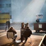 europese vakbonden komen samen bij Opel Antwerpen : stakingspicket houdt afgewerkte auto's tegen
