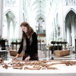 archeologische vondsten aan Sint-Romboutstoren in Mechelen : skeletten werden gevonden onder deze parking in opbouw