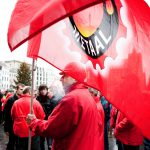 algemene staking van overheidsdiensten : ACOD op 't Astridplein in Antwerpen