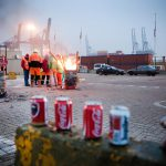 nationale staking : havenarbeiders van MSC staken