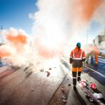 staking van de havenarbeiders in de Antwerpse haven (Zuidnatie)