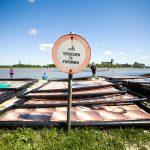 kunstproject van Wim Tellier op de Schelde