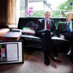 europees president van Rompuy op bezoek bij Tindemans met Nobelprijs
